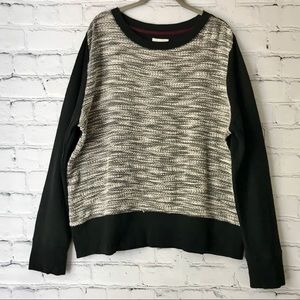 Lou & Grey Sweater Marled Boucle Black Sleeves